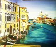 tableau paysages venise italie paysage ville : Venise Saint Georges