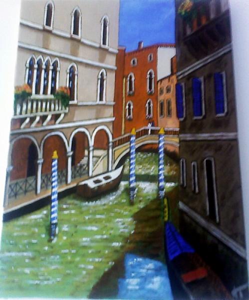 TABLEAU PEINTURE Italie Venise paysage Paysages Acrylique  - Ballade à Venise