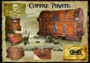 bois marqueterie autres pirate coffre tresor coffret : Le Capitaine