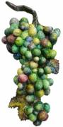 sculpture fruits grappe platre moulage : grappe verte