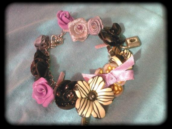 BIJOUX fimo bracelet fleurs Fleurs  - evasion
