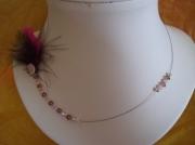 bijoux autres plumes coquillage collier : collier plumes de volupté et coquillage