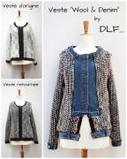 art textile mode autres recyclage ecomode veste veste laine : Veste WOOL & DENIM