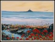 tableau paysages mont st michel peinture huile : Mont St michel