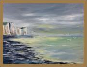 tableau paysages baie de somme falaises picardes falaises d ault bois de cise : falaise d'Ault