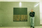 tableau abstrait suprasurface codebarres : premier tableau du XXIeme siècle