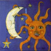 tableau autres : Le soleil a rendez vous avec la lune