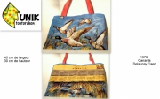 art textile mode animaux canard col vert 1978 kitsch : Sac UNIKTONTORCHON 1978 Canard