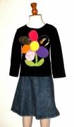 art textile mode fleurs mode enfant fille fleur : La fleur de ModelUnik 2/3 ans