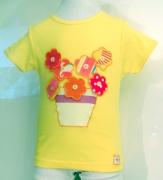 art textile mode fleurs enfant unique fille tshirt : T-shirt fleurettes par ModelUnik 4 ans