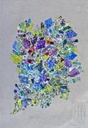tableau abstrait nature peinture ,a l hu sur metal : springvscovid4 le printemps ne se laisse pas confiner