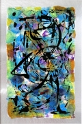 tableau abstrait sur metal mozart : Papageno