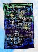 tableau abstrait sur metal huil encre de chine : Götter