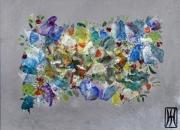 tableau abstrait corona force nature printemps anticonfinement : springvscovid2 le printemps ne se laisse pas confiner