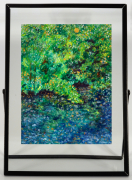 tableau paysages foret tropicale amazonie feuille dargent : amazonia3