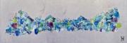 tableau abstrait force nature sur metal coronavirus : springvscovid3 le printemps ne se laisse pas confiner