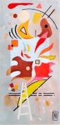 tableau abstrait metal peinture ,a l hu encre de chine : possibilité