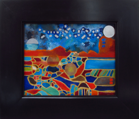 TABLEAU PEINTURE somanydifferentworlds cosmos Abstrait Peinture a l'huile  - so many different suns 2