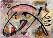 tableau abstrait huile et encre de ch metal marx : karl m. in the mind 6