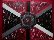 tableau abstrait abstrait rouge noir tableau : Ouragan
