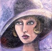 tableau personnages femme retro portrait sexy : Borsalino
