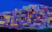 art numerique abstrait las favelas abstrait ville : Las Favelas