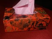 deco design abstrait boite ,a mouchoirs rouge : Boite à mouchoirs