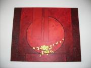 tableau abstrait : Abstrait rouge