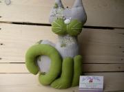 art textile mode animaux chat deco modele unique fait main made in france : chat personnalisable