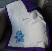 art textile mode autres cadeau naissance plaid bebe couverture brodee couverture doudou : Couverture bébé brodée
