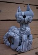 art textile mode animaux chat leste scene cam chat cale porte gris chat original scene chat cadeau amoureux : Chat lesté gris et noir