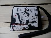 art textile mode animaux chat humoristique decoration interieur fait en france cadeau noel : sac à main thème: chat