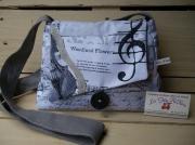 art textile mode autres sac ,a main theme musique cle de sol violon : sac à main thème: musique