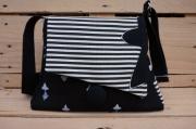 art textile mode autres sac noir et blanc sac breton sac bretagne sac gwen ,a du : Sac Bretagne noir et blanc