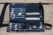 art textile mode autres sac ,a main fait en france original theme musiq modele unique : sac à main, thème musique