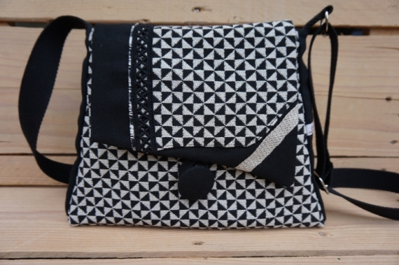 ART TEXTILE, MODE modèle unique fait en France fabrication artisana Artisan d'art 2  - sac à main modèle unique