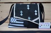 art textile mode autres sac ,a main lin et coton bretagne breizh guen ,a du : sac à main lin et coton thème Bretagne