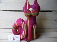 chat cale-porte en tissu