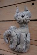 art textile mode animaux chat leste toile de chat caleporte beig chat leste scene cam chat decoration toil : Chat lesté cale-porte toile de Jouy beige