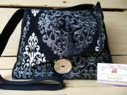 art textile mode abstrait sac ,a main motifs arabesques modele unique fait main personnal : sac à main