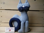 deco design animaux chat tissu decoration cadeau original fait en france : chat tissu... chabadabada