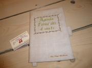 art textile mode autres agenda personnalisab fait en france lin brode agenda offert : Votre protège-agenda, personnalisable en lin naturel brodé