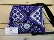 art textile mode autres sac ,a mainsac bando violet et argenteti fait en francefait modele unique la fe : sac à main velours violet, garni de motifs arabesques argentés
