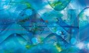 """tableau abstrait abstrait eau onde musique : Ondes electroacoustiques """"ondes 33"""""""