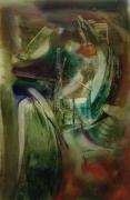 tableau abstrait minuit jardin etrange atmosphere : Minuit dans le jardin