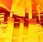 tableau abstrait anachoretes desert fusion lumiere : Thébaïde