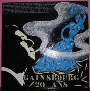 tableau personnages gainsbourg gitanes cigarettes volutes bleues : Gainsbourg fumeur de gitanes