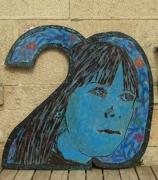 tableau personnages portrait 20 ans femme pop art : Anniversaire B