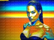 art numerique nus angelina jolie aurore boreale femme portrait : Angelina Jolie