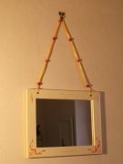 deco design autres miroir jaune perles decoration : miroir aux perles